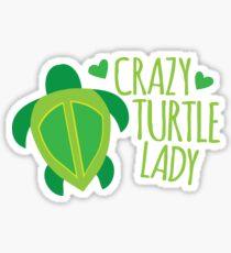 Crazy Turtle Lady Sticker