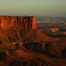 Orange Cliff at Sunset by CAPhotography