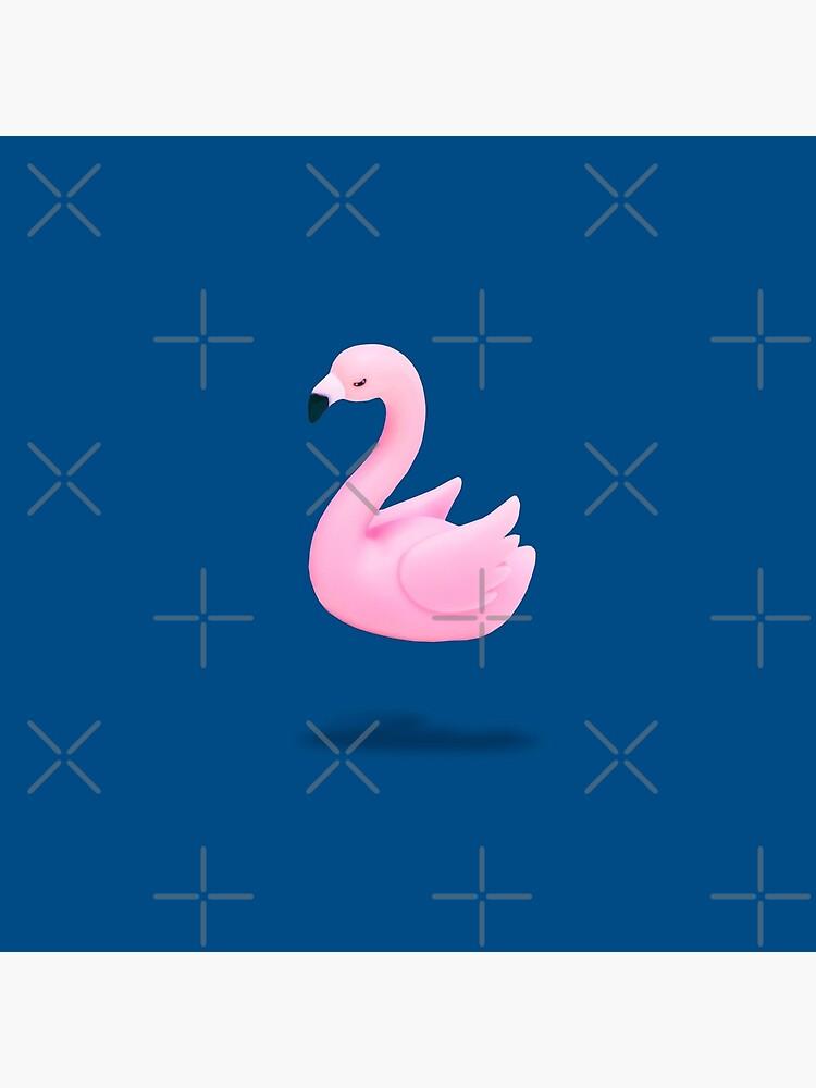 Flying Pink Plastic Flamingo by KatyaHavok