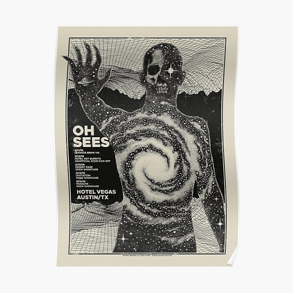 thee Oh Sees tour art Poster