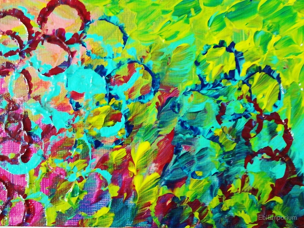 """A LITTLE OF THIS - Bright Colorful Abstract Ocean ..."