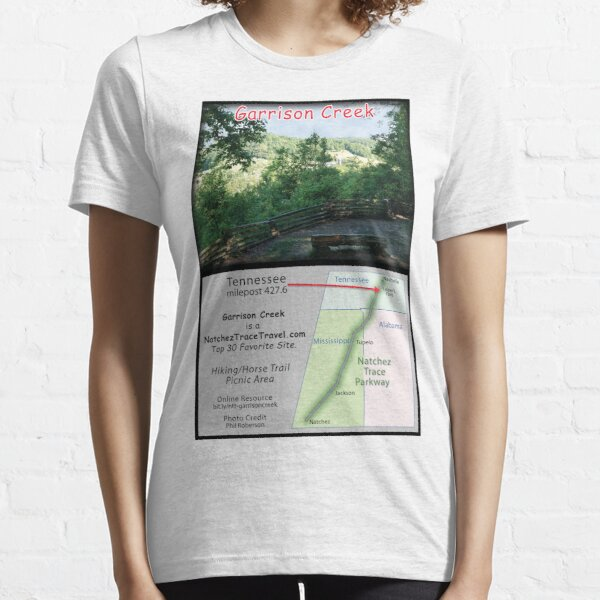 Garrison Creek (view from vista) on the Natchez Trace Parkway. Essential T-Shirt