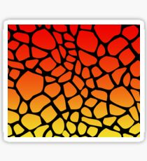 Flame Giraffe Pattern Sticker