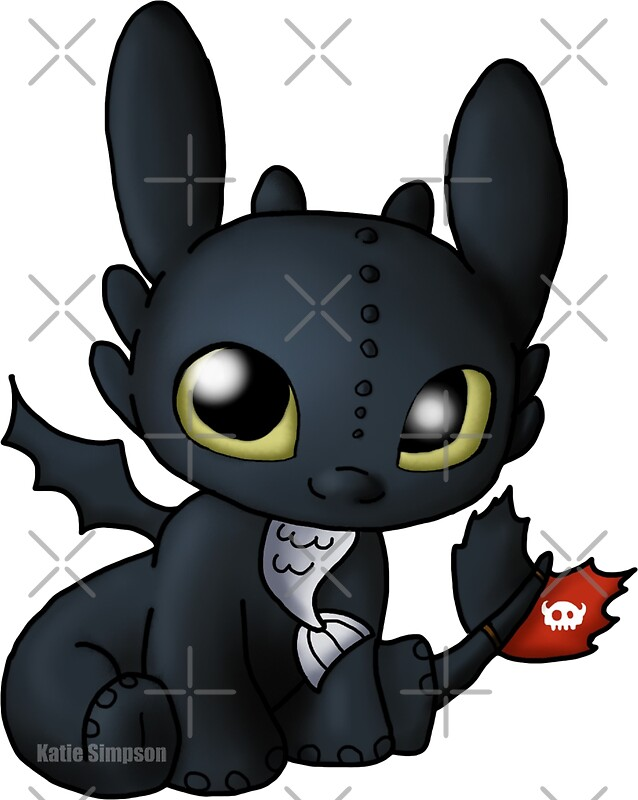 """""""Chibi Toothless"""" Stickers by Redhead-K 