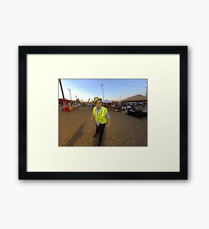 zombie construction worker. Framed Print