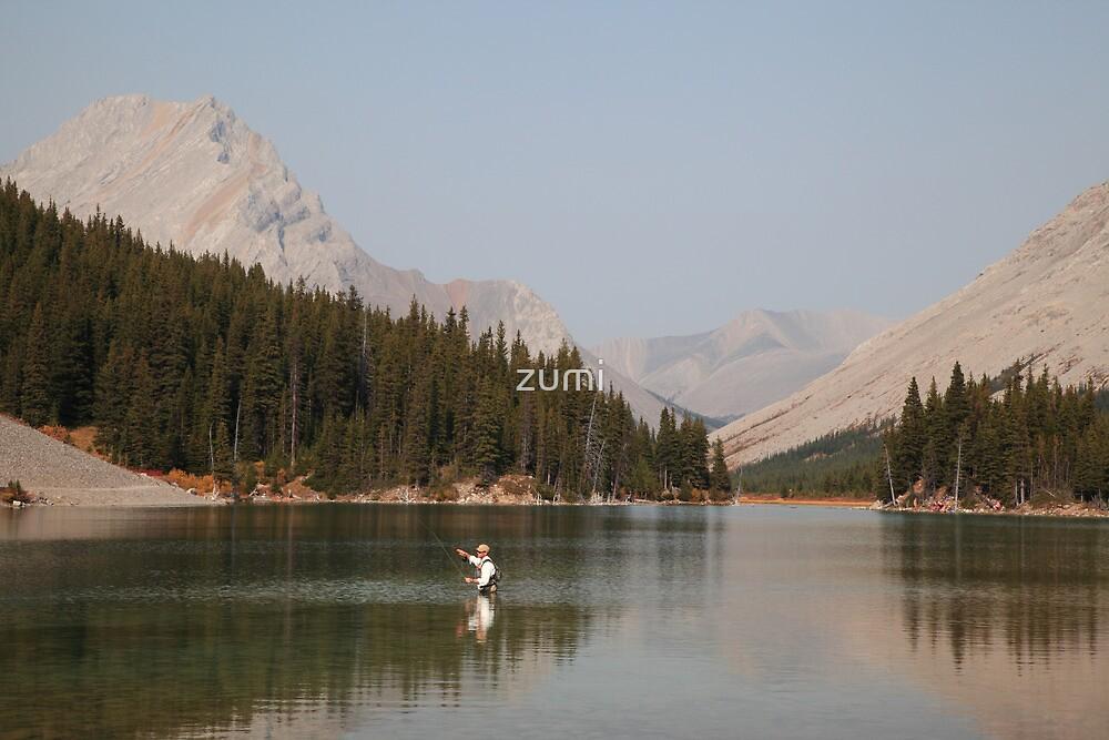 Elbow lake fishing II by zumi