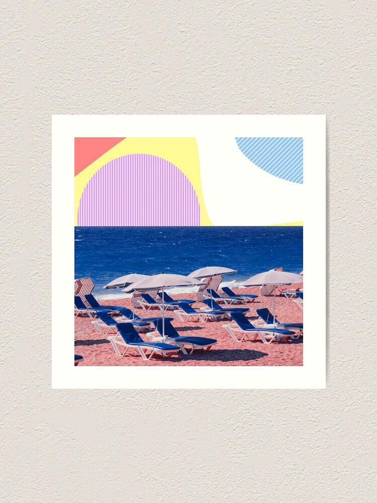 Alternate view of Surreal Beach Near The Ocean Art Print