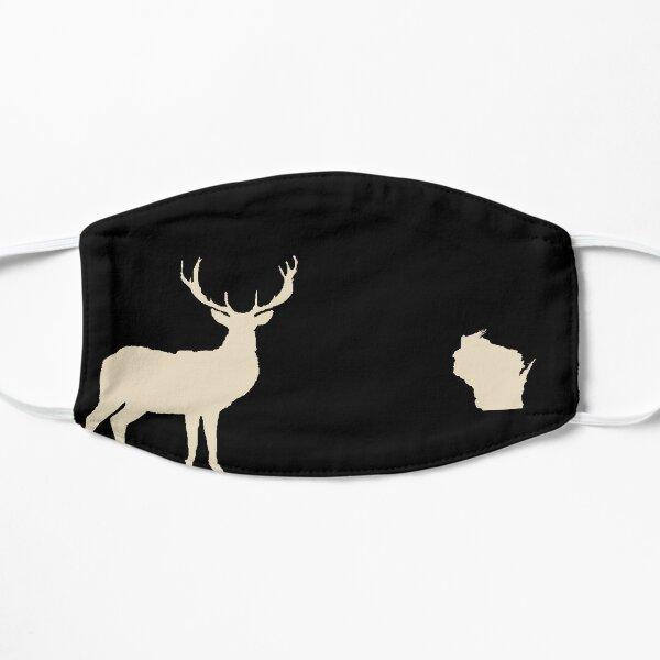 Wisconsin Deer Black Mask Flat Mask