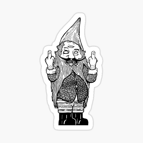 Gnome Regrets - Double Bird Third Eye Sticker