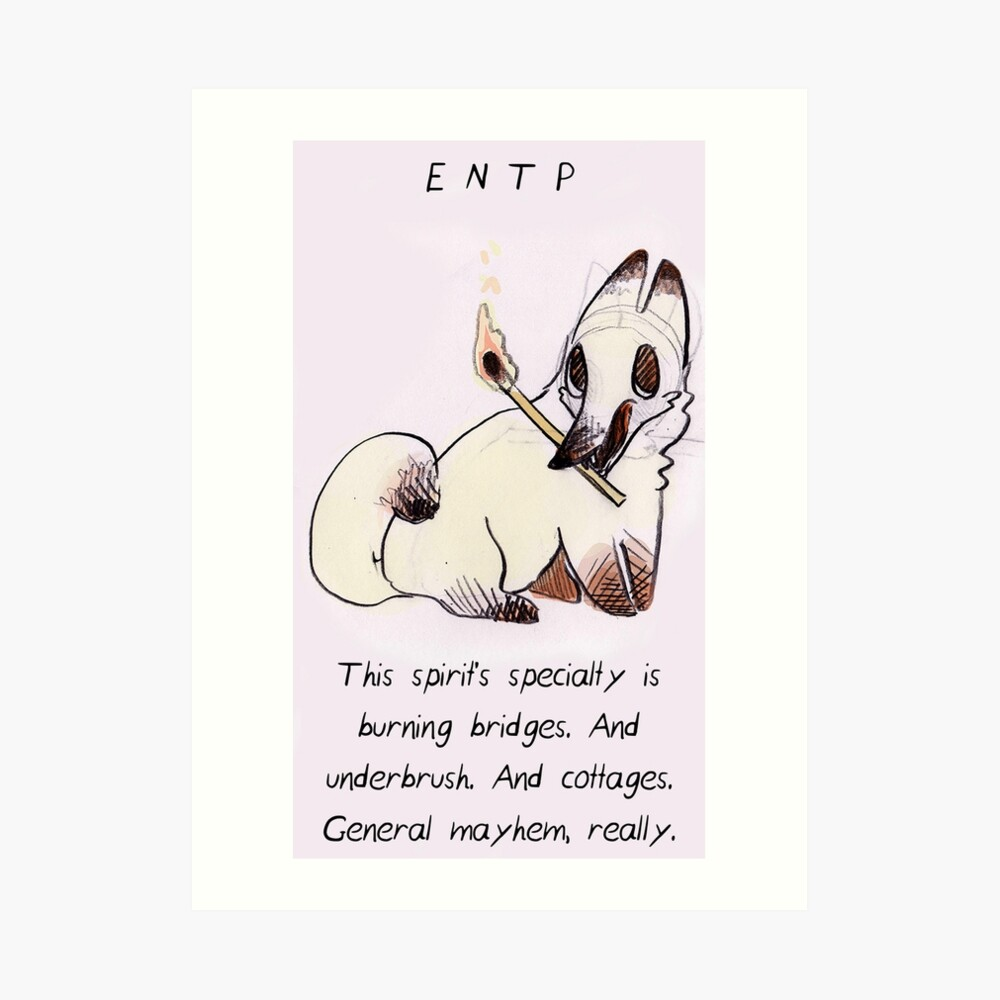 MBTI GHOSTS AND GHOULS- ENTP FIRE FOX | Art Print