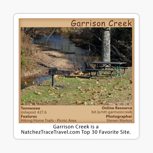 Garrison Creek (picnic area) on the Natchez Trace Parkway. Sticker