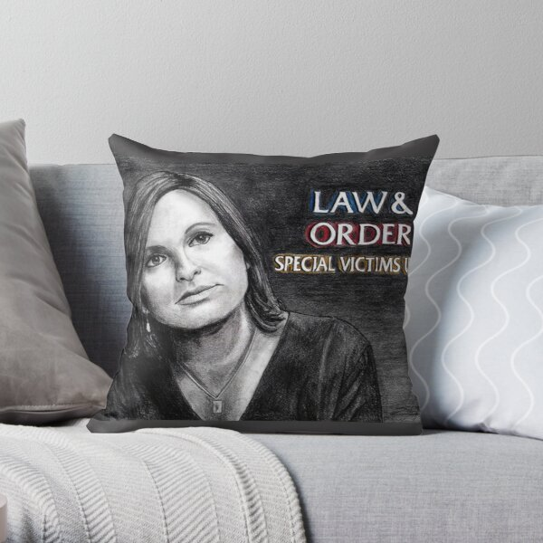 Olivia Benson Law and Order SVU Throw Pillow
