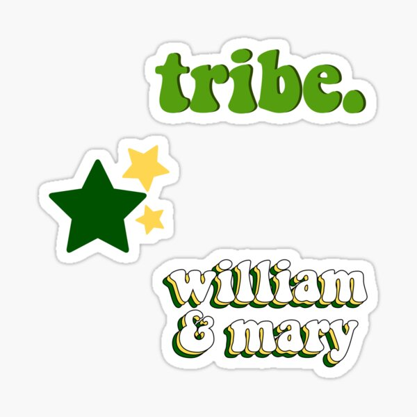 William and Mary Sticker Pack Sticker