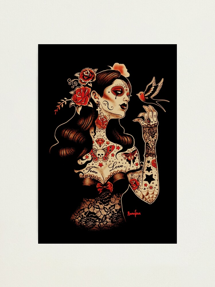 Alternate view of Day of the Dead Art, Day of the Dead Picture ,Dia De Los Muertos Photographic Print
