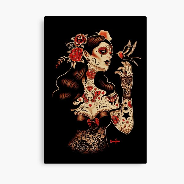 Day of the Dead Art, Day of the Dead Picture ,Dia De Los Muertos Canvas Print