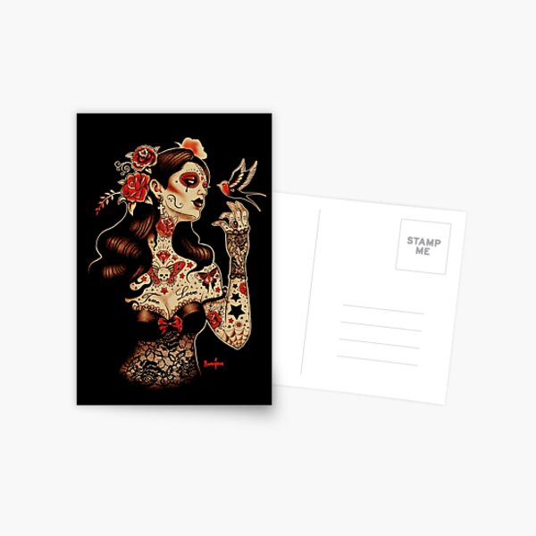 Day of the Dead Art, Day of the Dead Picture ,Dia De Los Muertos Postcard