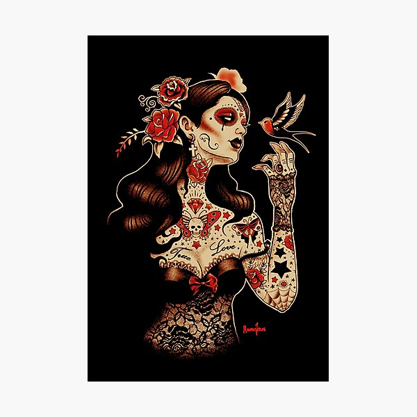 Day of the Dead Art, Day of the Dead Picture ,Dia De Los Muertos Photographic Print