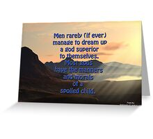 Godly Morals Greeting Card