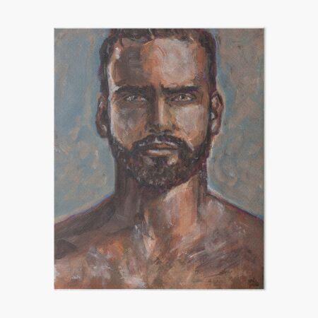 PRINT of Original Watercolor Painting Male Gay Tighty Whities underwear ART