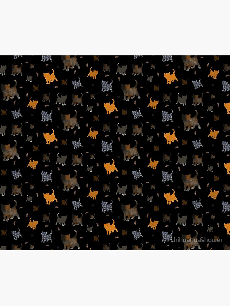 Cats on black by chihuahuashower