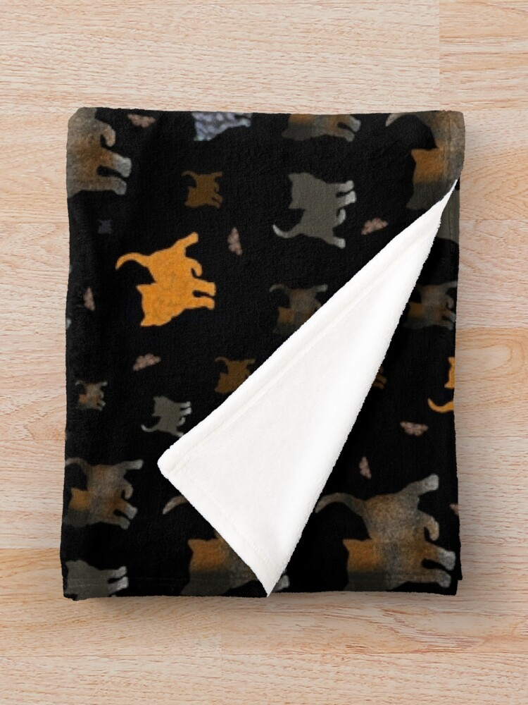Alternate view of Cats on black Throw Blanket
