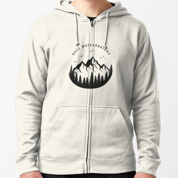to be able to give something back to nature. Take care of yourself and your environment Zipped Hoodie