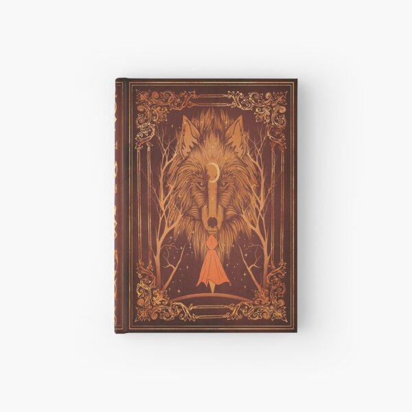 Old magic werewolf moon book Hardcover Journal