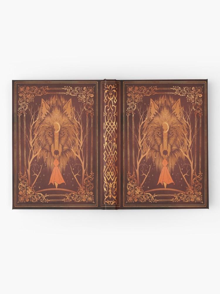 Alternate view of Old magic werewolf moon book Hardcover Journal