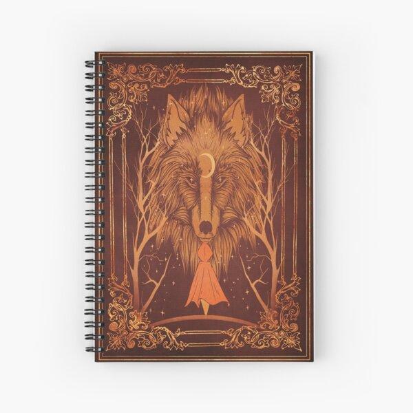 Altes Magie Werwolf Mond Buch Spiralblock