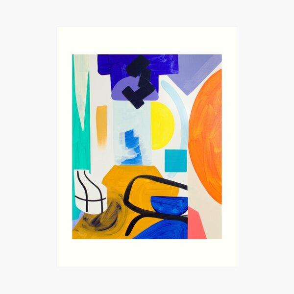Abstract Colour Pop Art Print Art Print