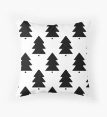 Scandinavian Trees Throw Pillow