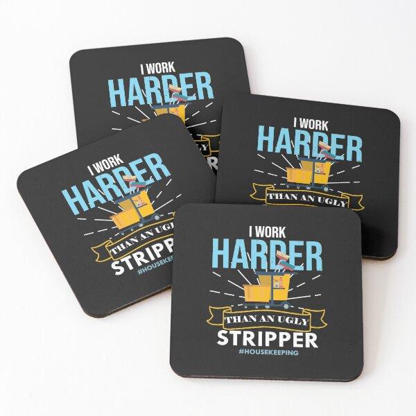 Housekeeping  Humor Cleaning,  housekeeping supervisor Gift  Coasters (Set of 4)