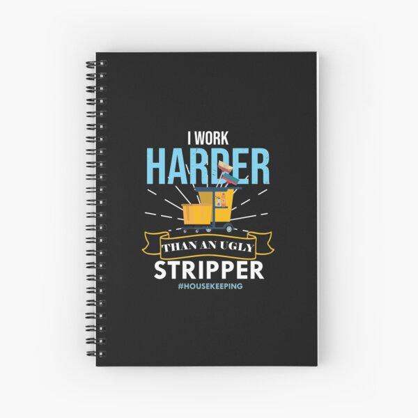 Housekeeping  Humor Cleaning,  housekeeping supervisor Gift  Spiral Notebook