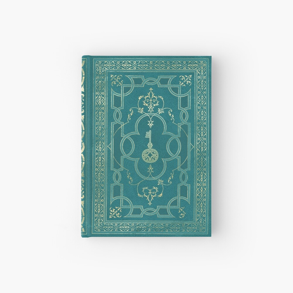 Old magic key grimoire Hardcover Journal
