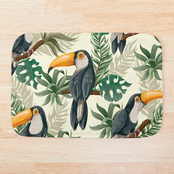 Tropical jungle toucan  Bath Mat