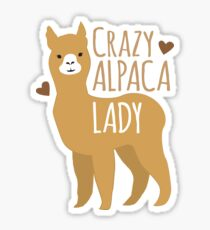 Crazy Alpaca Lady Sticker