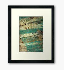 Paint & Dirt on Wood Framed Print