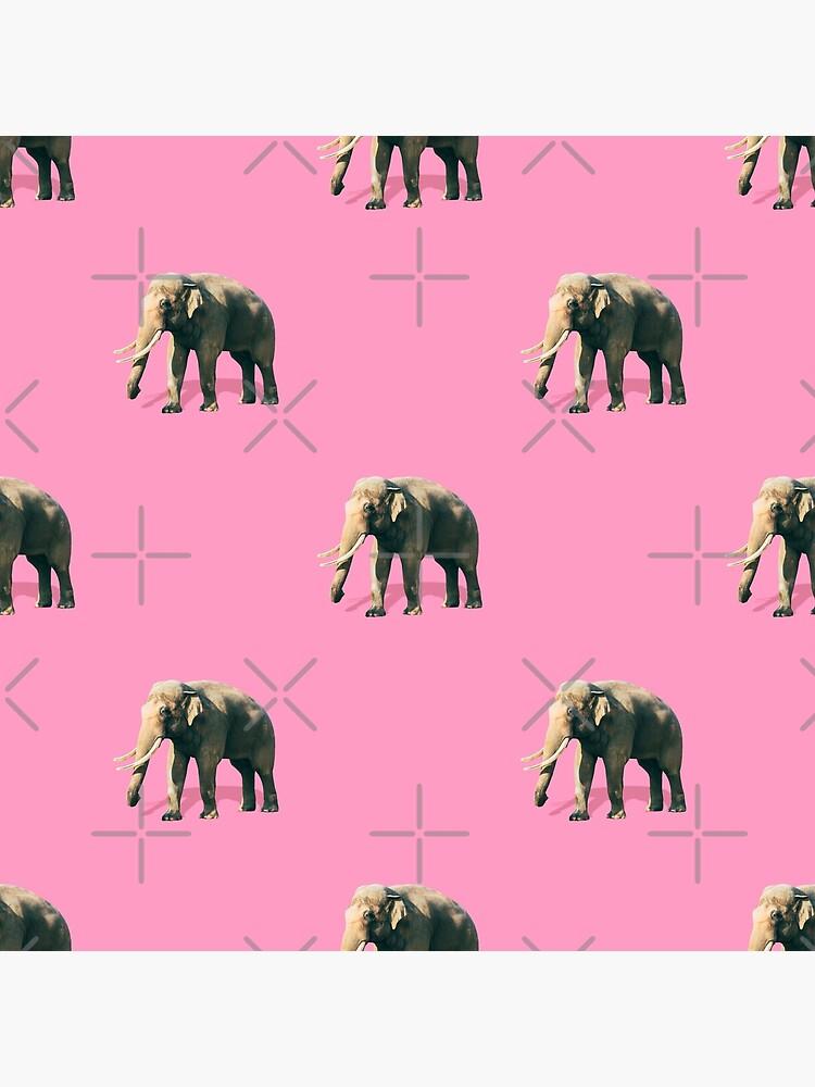 Elephants on pink by KatyaHavok
