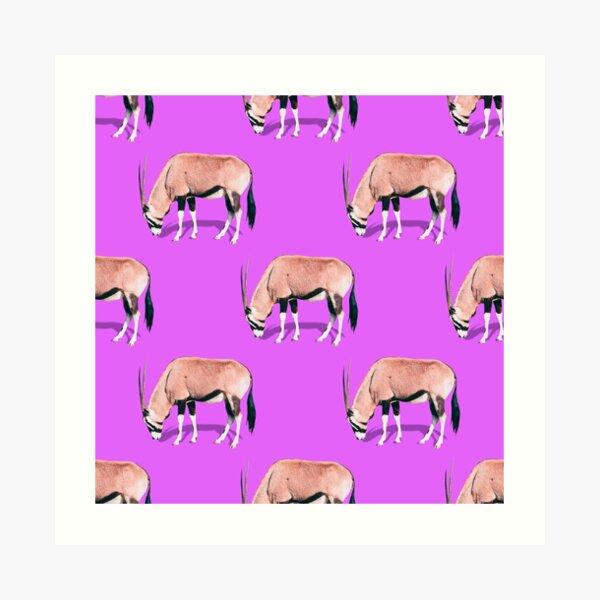 Antelopes pattern Art Print