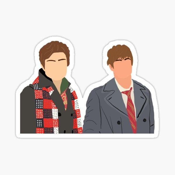 Chuck y Nate chismosa Pegatina