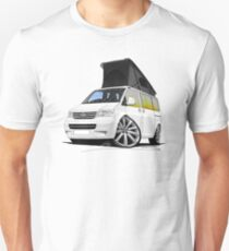 VW T5 California Camper Van White (10-Spoke Wheels) Unisex T-Shirt