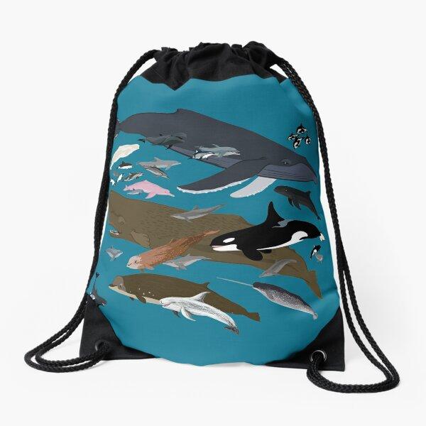 I Am Thankful For Cetaceans Drawstring Bag