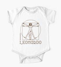 I LOVE LEONARDO DA VINCI T-shirt One Piece - Short Sleeve