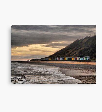 Beach Huts at Cromer  Canvas Print