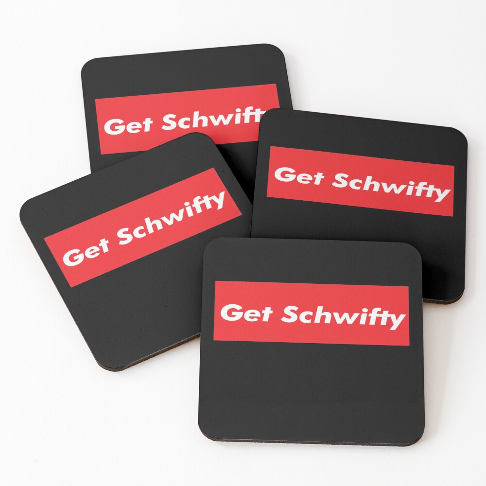 Get Schwifty Rick And Morty Design Coasters (Set of 4)