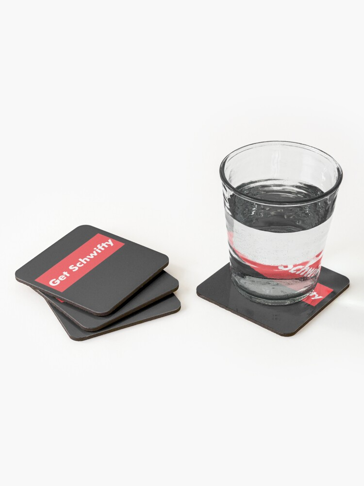 Alternate view of Get Schwifty Rick And Morty Design Coasters (Set of 4)