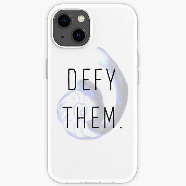 """Defy Them"" Cosima's Tattoo - Orphan Black - Cophine iPhone Soft Case"