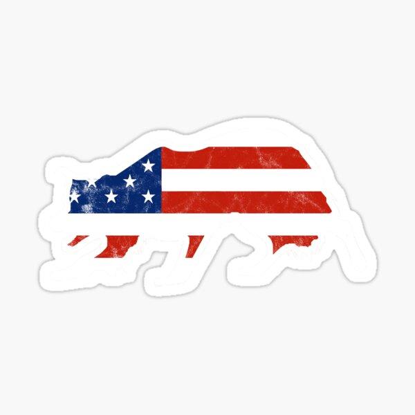 Border Collie Stars and Stripes Patriot Dog Sticker