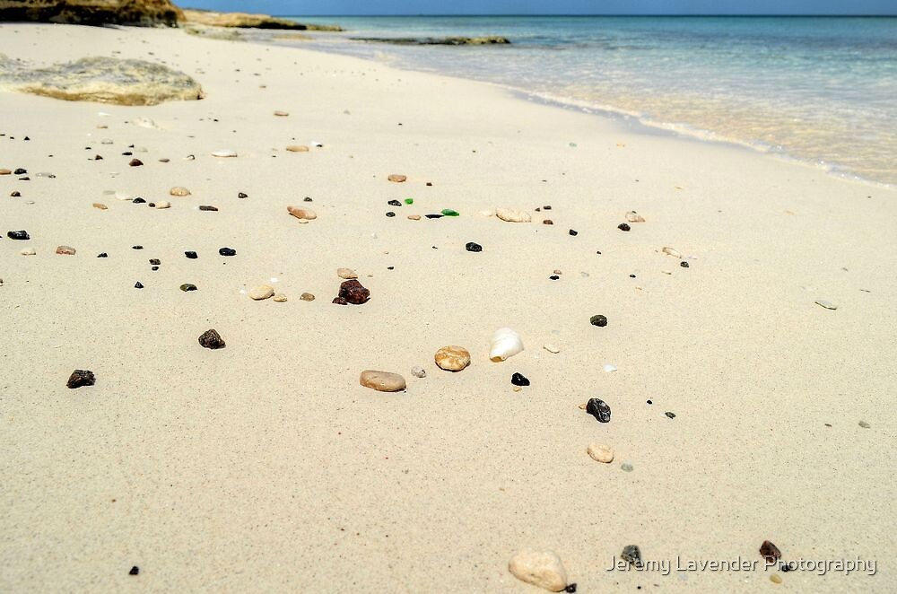 Sea Glass on the beach in Nassau, The Bahamas by Jeremy Lavender Photography