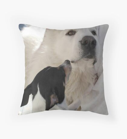 DUKE AND FRIEND Throw Pillow